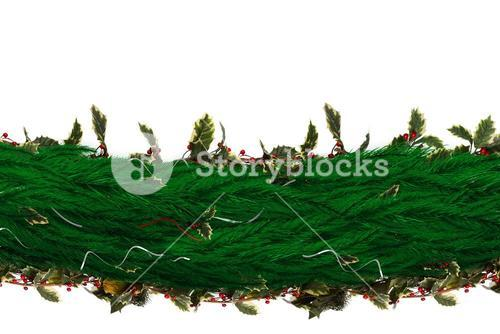 Fir branch christmas decoration garland
