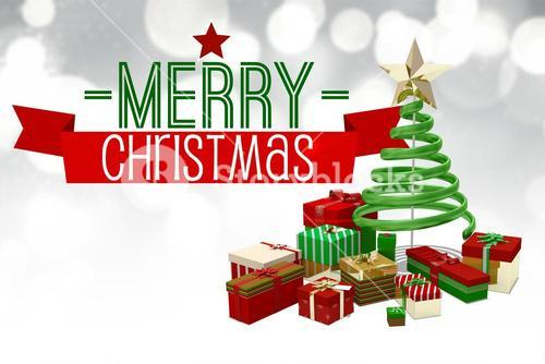 Merry christmas message with graphics