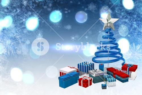 Cute christmas graphics in blue
