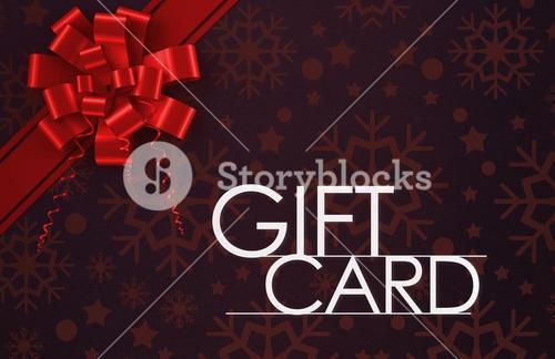 Gift card with festive bow