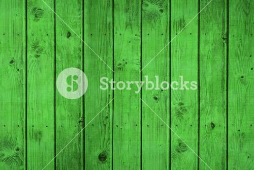 Bright green wooden planks