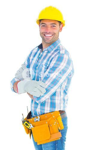 Portrait of confident manual worker