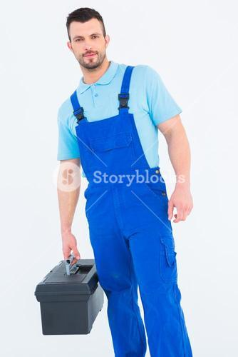 Repairman with toolbox