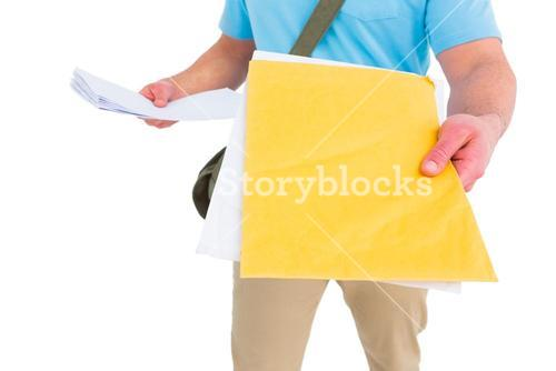 Postman with letter