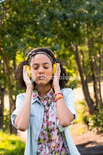 Pretty hipster listening to music