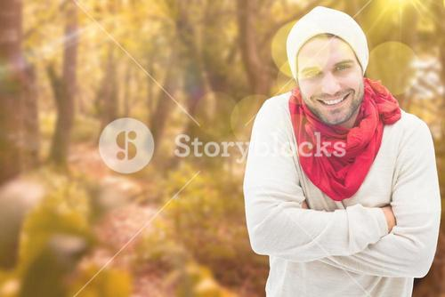 Composite image of handsome hipster