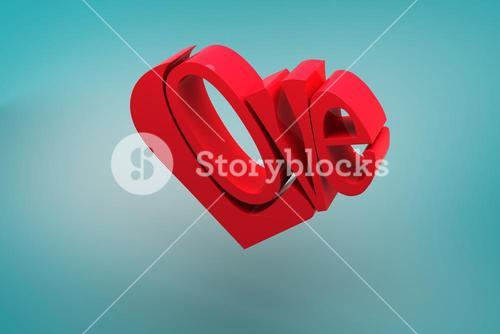 Composite image of love heart