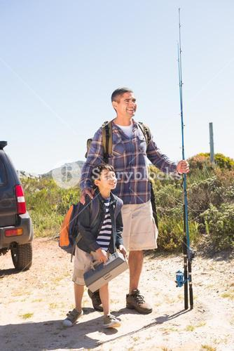 Father and son on a fishing trip