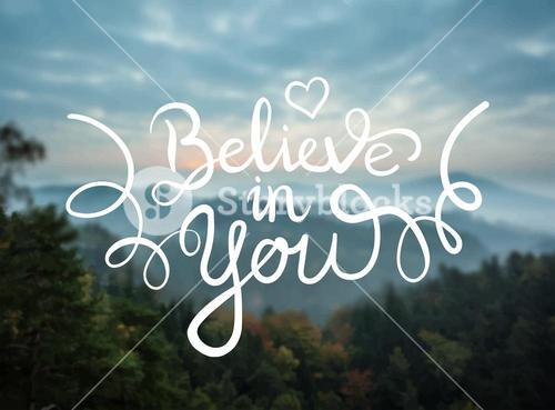 Believe in you message vector