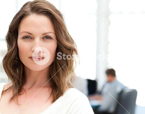 Portrait of a charismatic woman at a meeting