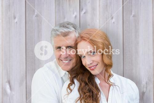 Composite image of loving couple