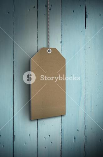 Composite image of brown hanging tag