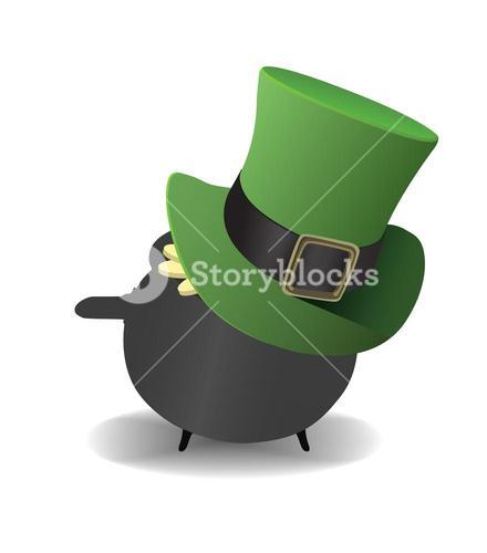Pot of gold wearing a top hat