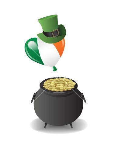 St patricks day vector with pot of gold