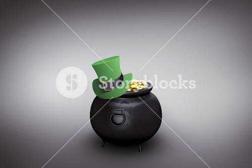 Composite image of leprechaun hat