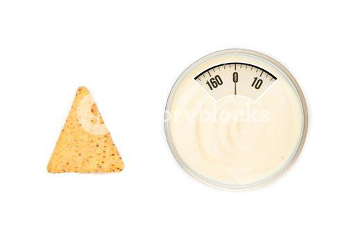 Composite image of weighing scales
