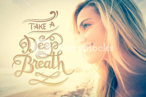 Take a deep breath vector