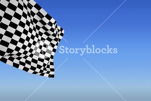 Composite image of checkered flag