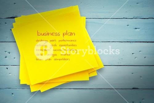 Composite image of business plan