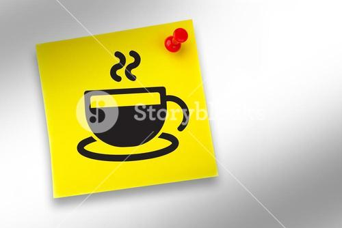 Composite image of coffee cup graphic