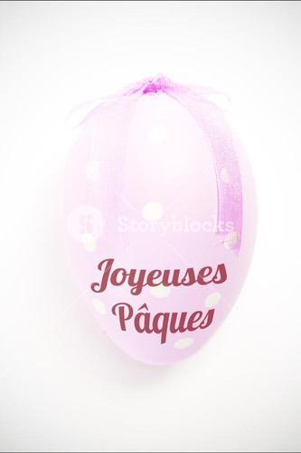 Composite image of joyeuses paques