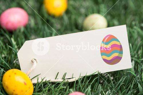 Composite image of easter egg