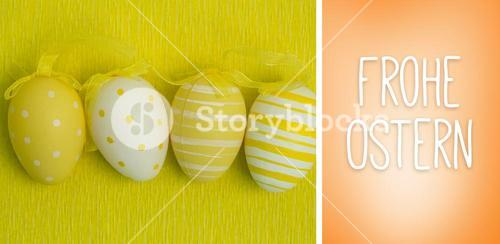 Composite image of frohe ostern