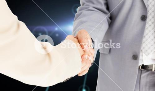 Composite image of people in suit shaking hands