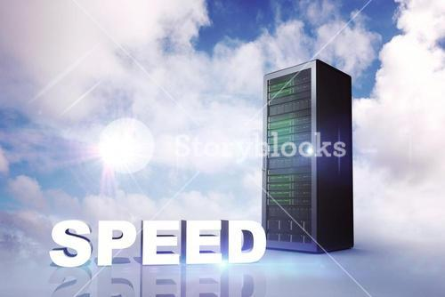 Composite image of speed