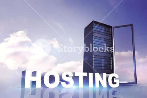 Composite image of hosting