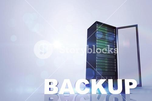 Composite image of backup