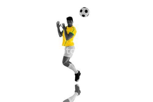 Composite image of football player