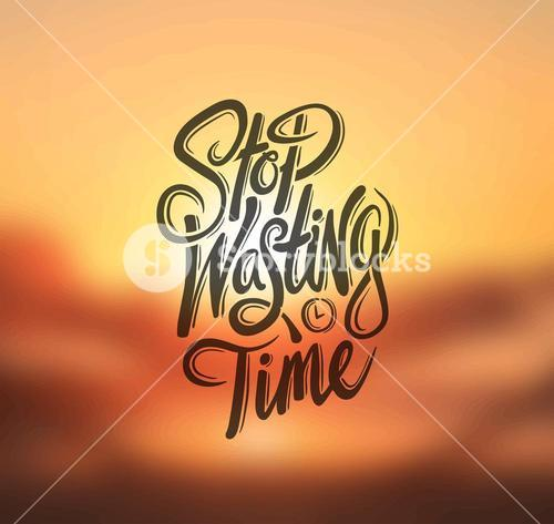 Stop wasting time vector