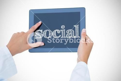 Social against doctor using tablet pc