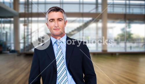 Composite image of businessman