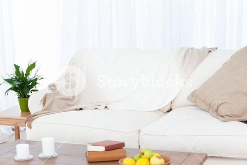 A sofa in the living room