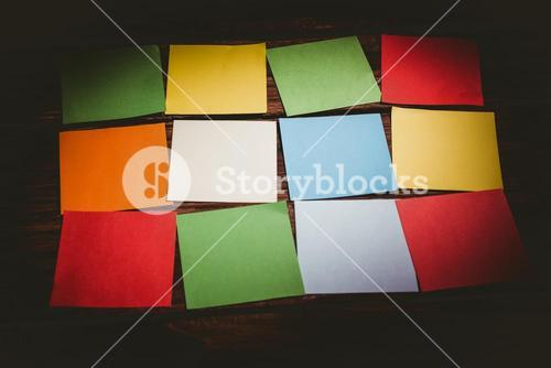 Colorful sticky post its