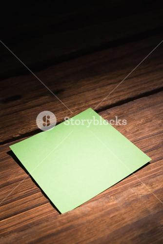 Green post it
