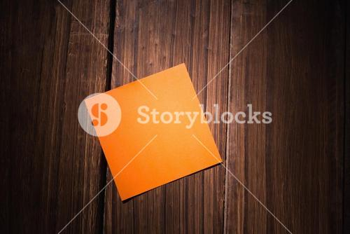 Orange post it