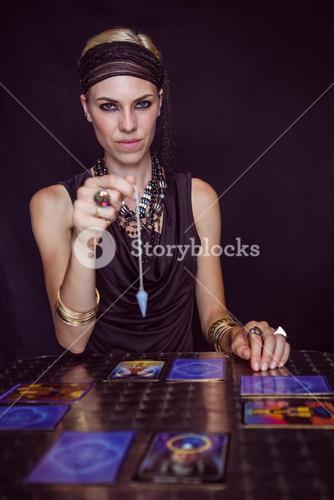 Fortune teller forecasting the future with pendulum