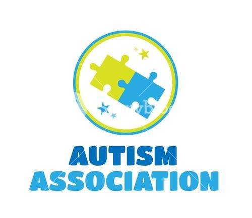 Autism association vector with jigsaw
