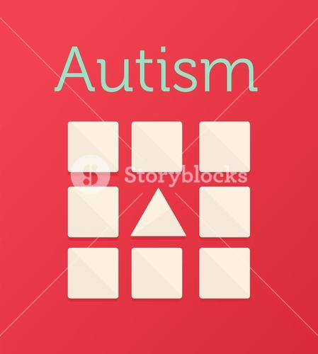 Autism vector with triangle and squares