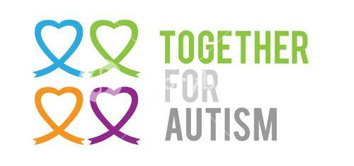 Together for autism vector