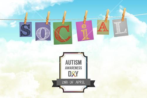 Composite image of autism awareness day