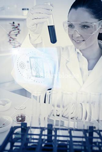 Composite image of science and medical graphic