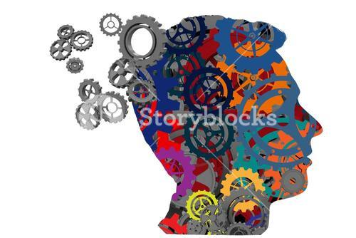 Composite image of cogs and wheels