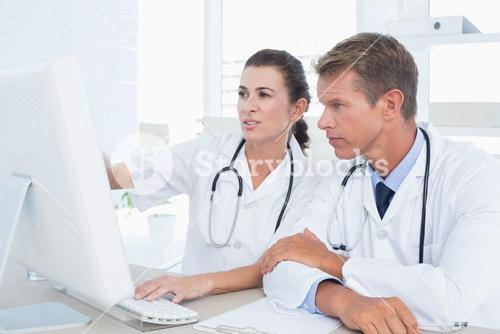 Concentrated doctors using computer