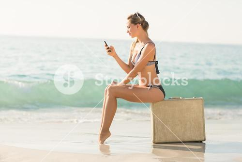 beautiful blonde woman on a sunny day