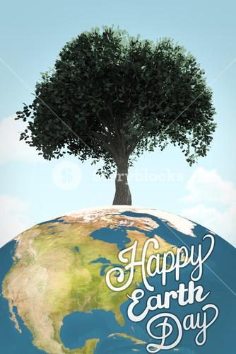 Composite image of happy earth day