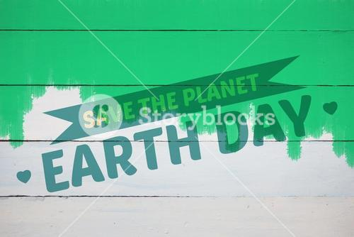 Composite image of save the planet